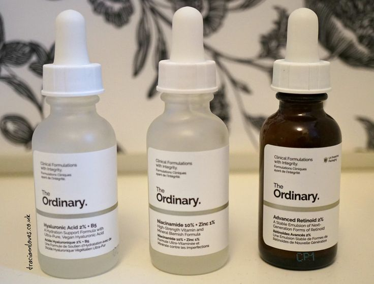 The Ordinary Skincare Review - hyaluronic acid, niacinamide, advanced retinoid