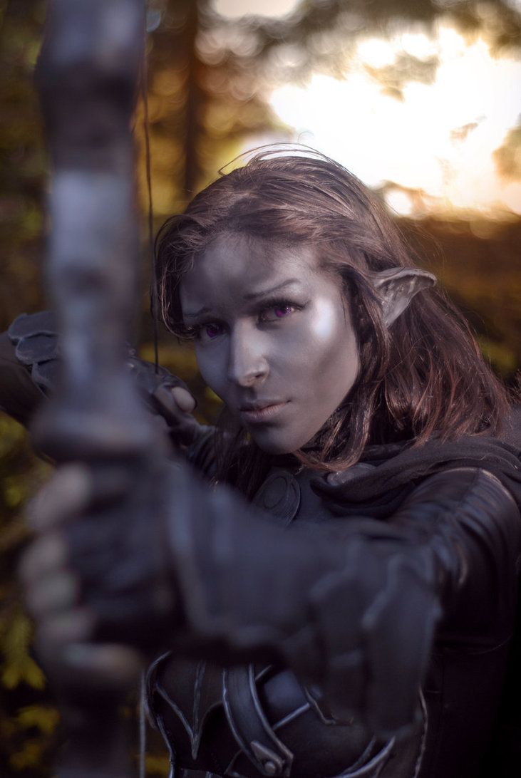 Dark Elf Nightingale, Skyrim Cosplay. Perfect, i love everything about this