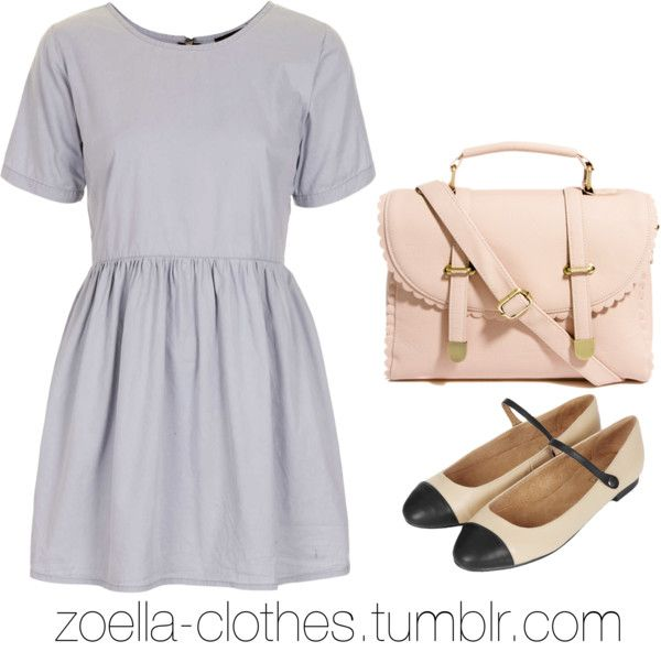 Inspired bts outfit by zoella-clothes featuring asos  Motel zip dress, $70 / Topshop flat shoes / ASOS (day out outfit)