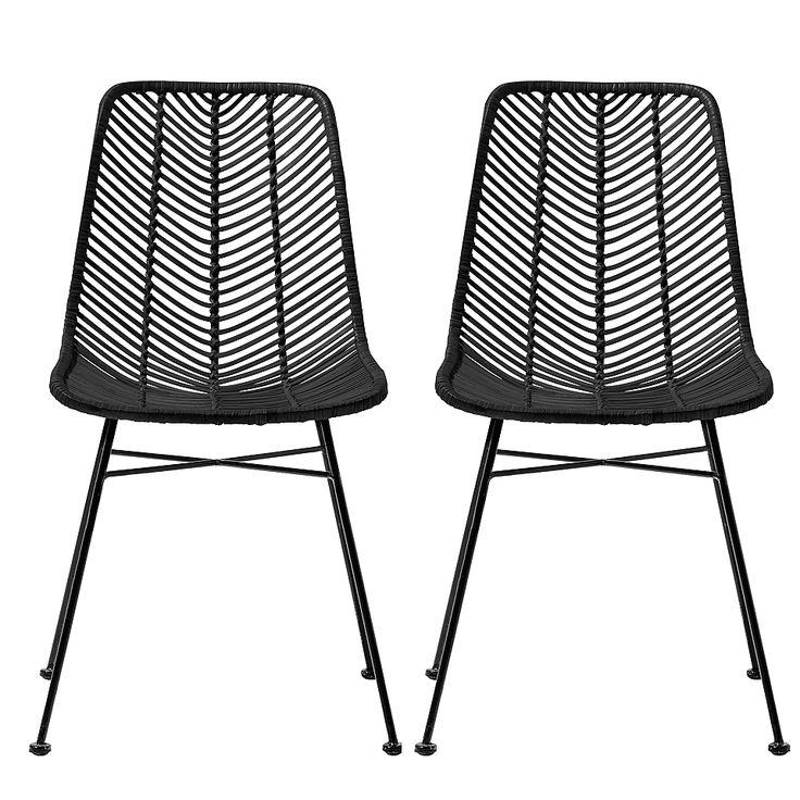 chaises lena rotin noir bloomingville visuel 1 deko living room decor furniture und decor. Black Bedroom Furniture Sets. Home Design Ideas