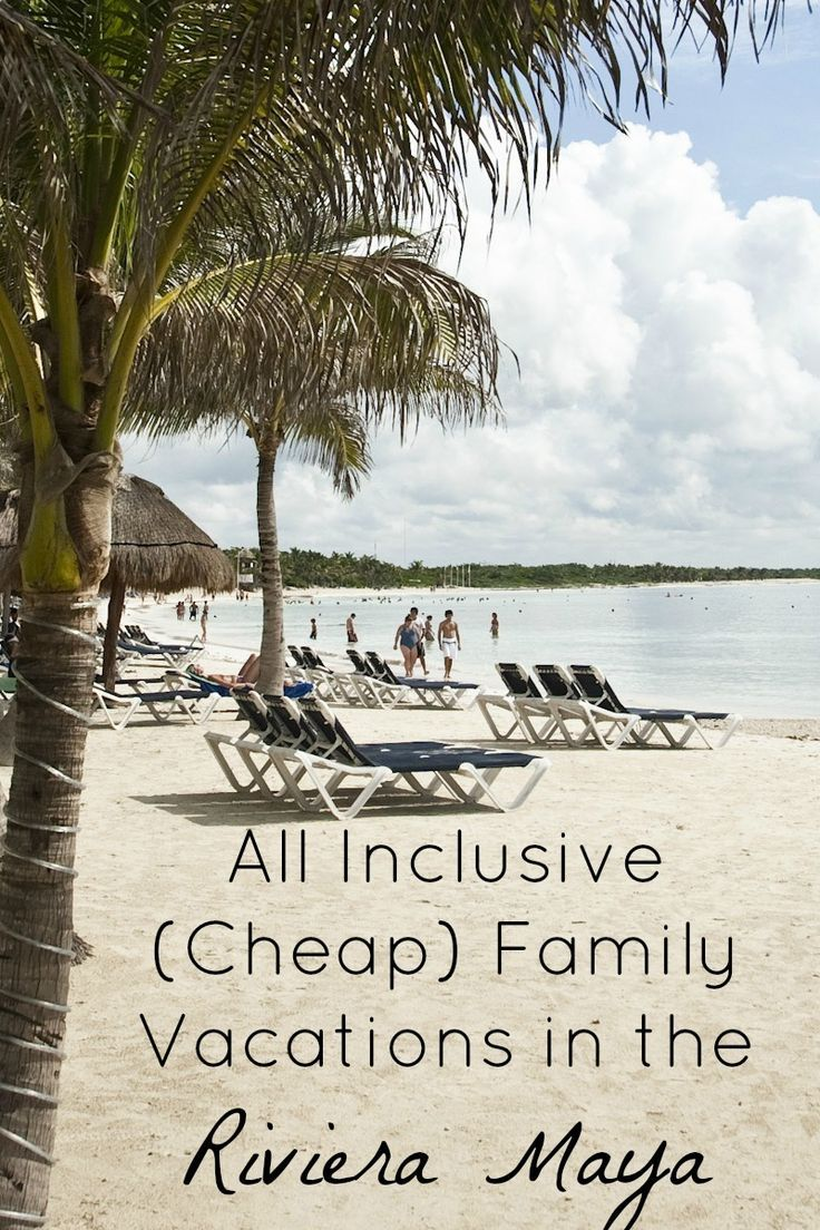 Looking for fun cheap family vacations that don't feel cheap? Get away with all inclusive package deals to the Riviera Maya in Mexico with these deals!