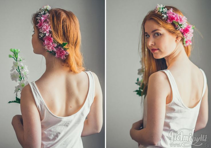 DIY puolikas kukkaseppele, flower crown // Helmihytti