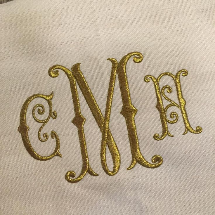 Romance Monogram Embroidery Font
