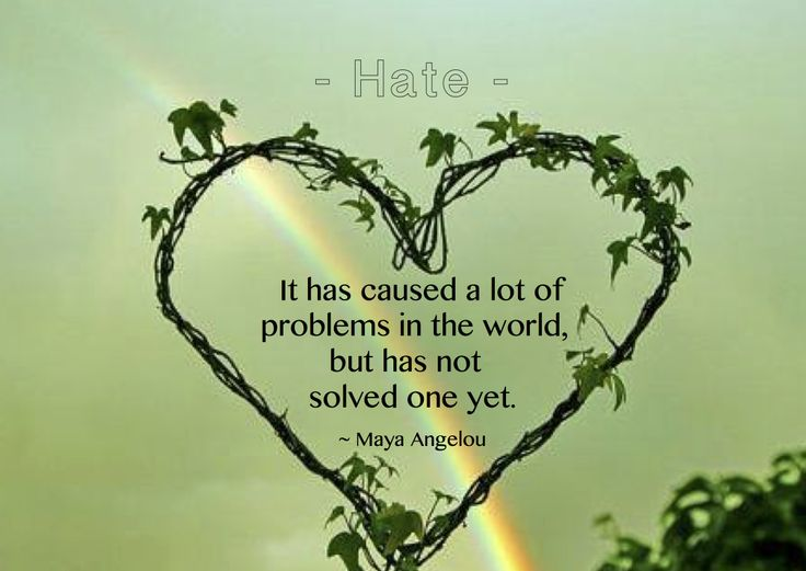 Maya Angelou Quote It Has a Lot of Problems Caused Hate