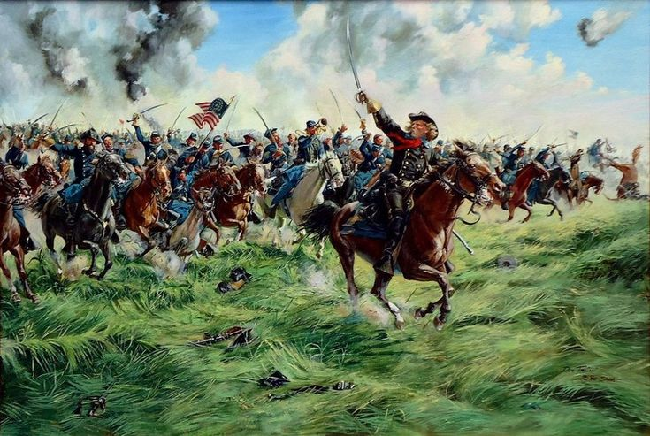 Атака кавалеристов Кастера, Геттисберг 3 июля 1863