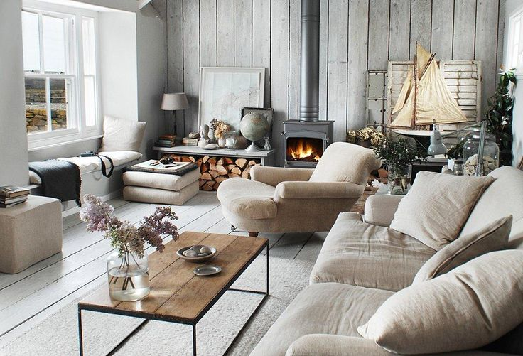 "A Living Room the Color of the Winter Sky -- Love this relaxed and elegant look! See how you can shop the look here on ""Room Crush: Serene Gray Living Room "" over on the One Kings Lane Style Guide!"