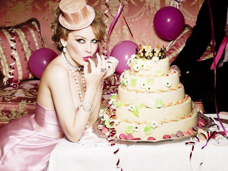 Happy Birthday Kylie Minogue cakepins.com
