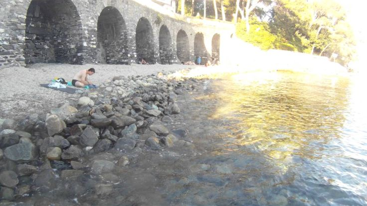 GOPRO, Swimming with waterproof cam, Rapallo, beach, italian holiday, sea