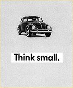 "imperative mood: The <b>imperative</b> ""Think small"" was an advertising <a href=""http://grammar.about.com/od/rs/g/sloganterm.htm"">slogan</a> for the Volkswagen Beetle in the 1960s."