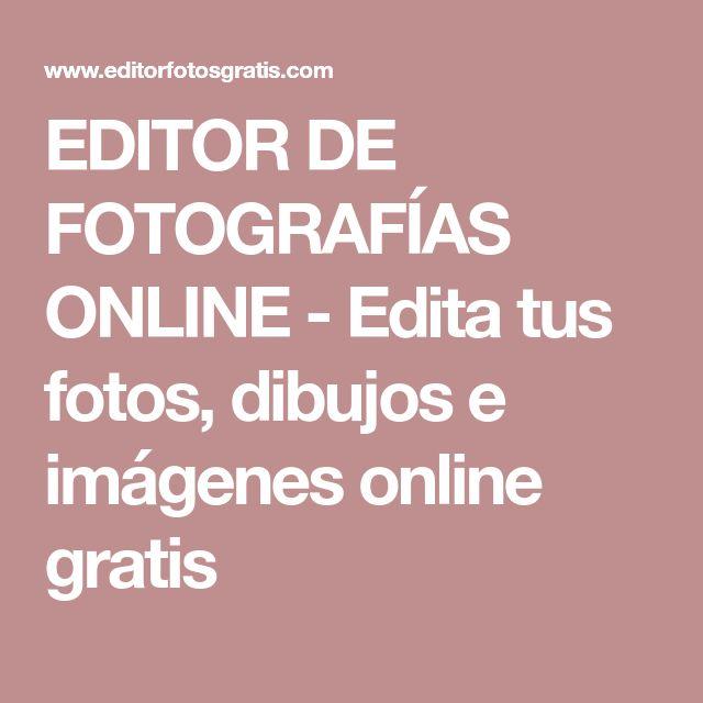 EDITOR DE FOTOGRAFÍAS ONLINE - Edita tus fotos, dibujos e imágenes online gratis