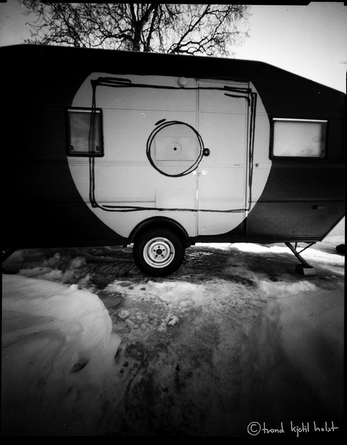 A pinhole photo of The Giant Mobile Camera ready for WPPD 2013