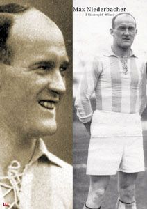 Max Niederbacher of Stuttgart Kickers & Germany in 1925.
