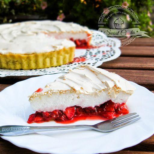 Tarta truskawkowa z bezą   Świat Ciasta