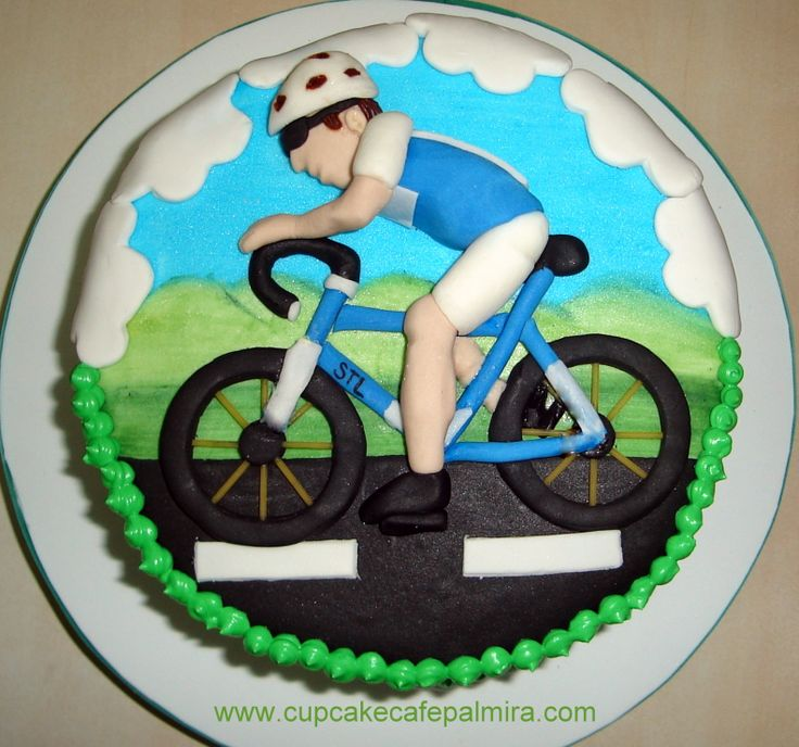 Road Bike Cake Decoration : Cyclist Cake Cupcake Cafe Palmira Pinterest Cyclists ...
