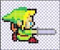 Pixel Art Maker    This is an example of a Pixel Art Maker with some templates just click the buttons  http://ezarcade.net/games/pixel-art-maker/