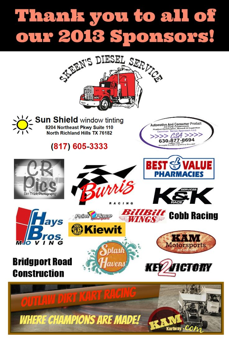We have the best Sponsors and Racers at KAMkartway.com!  Thank you for a great season.  #KAMfamily #KAMkartway #DirtRacing #QRCkarts
