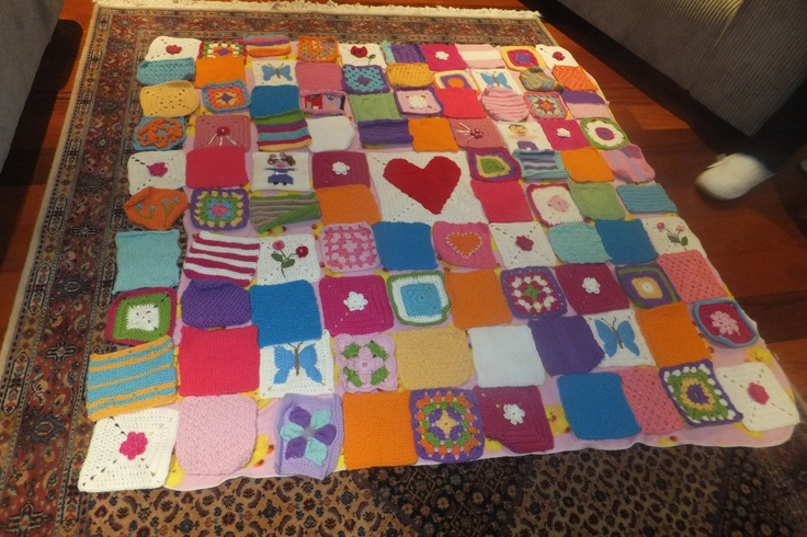 A blanket made for a very sick girl at Starship hospital. Made with love 2012