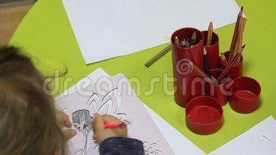 Preschoolers to kindergarten during educational activities - crayons.