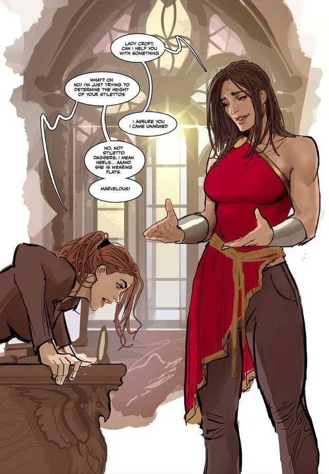 Lara croft comic sex statue