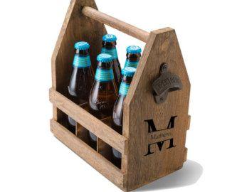 Carrito de madera cerveza con botella por RedwoodRunWoodcraft