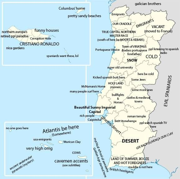 Best Portugal Images On Pinterest Portugal Cartography And - Portugal map south
