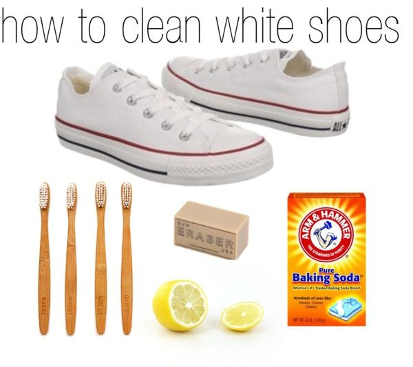 how to clean white shoes cleaning materials pinterest