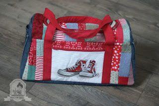 Szilvi foltvarró blogja: Sporttáska quilt-as-you-go patchwork technikával