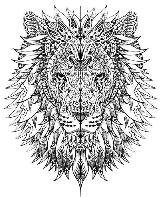 mandala art lion coloring book for adults