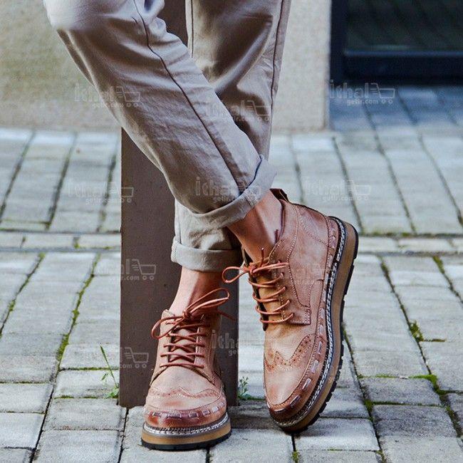Yüksek Kaliteli Malzemelerden Üretim Moda Erkek Ayakkabı Modelleri - 571582 - 25