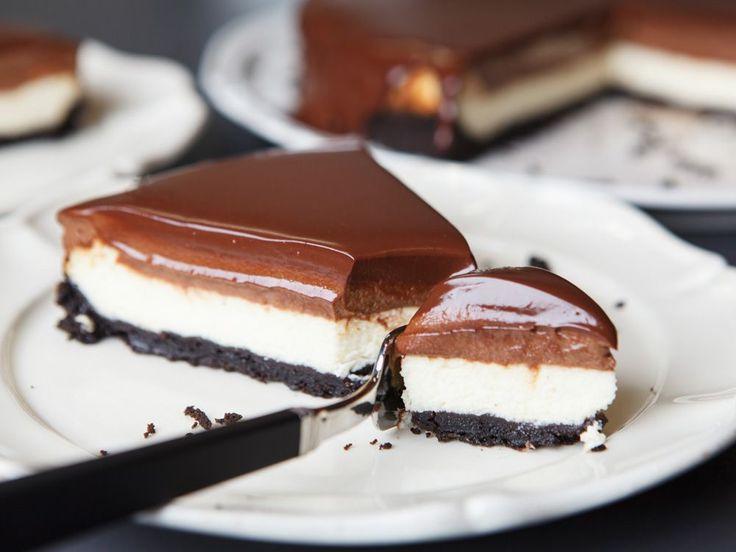 Zu gut, um wahr zu sein: Probiert unser Rezept für einen Chocolate-Cheesecake mit Oreo-Boden.