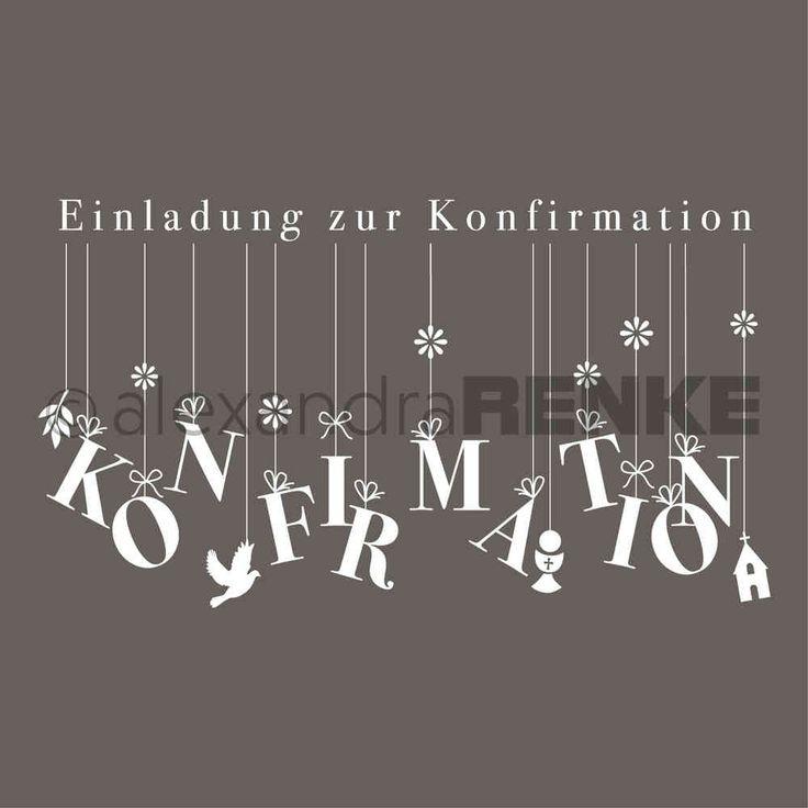 Typostempel 'Einladung Konfirmation'