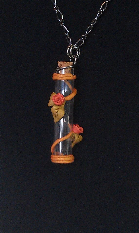Steampunk Polymer Clay Time in a bottle