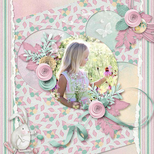 "Kit Aurélie Scrap ""Bunny in spring""  https://www.digiscrapbooking.ch/shop/index.php?main_page=product_info&cPath=342&products_id=26850&zenid=elpuj99g8rl13dp5n559k296q1 Template Flomelle / Photo Jill Wellington via Pixabay"