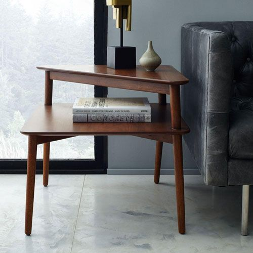 side table living room. With its warm walnut finish and streamlined silhouette  our Mid Century Stepped Side Table s design adds more space to display your favourite photos Best 25 Living room side tables ideas on Pinterest