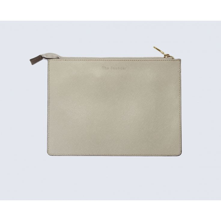 Small taupe leather pouch - Accessories