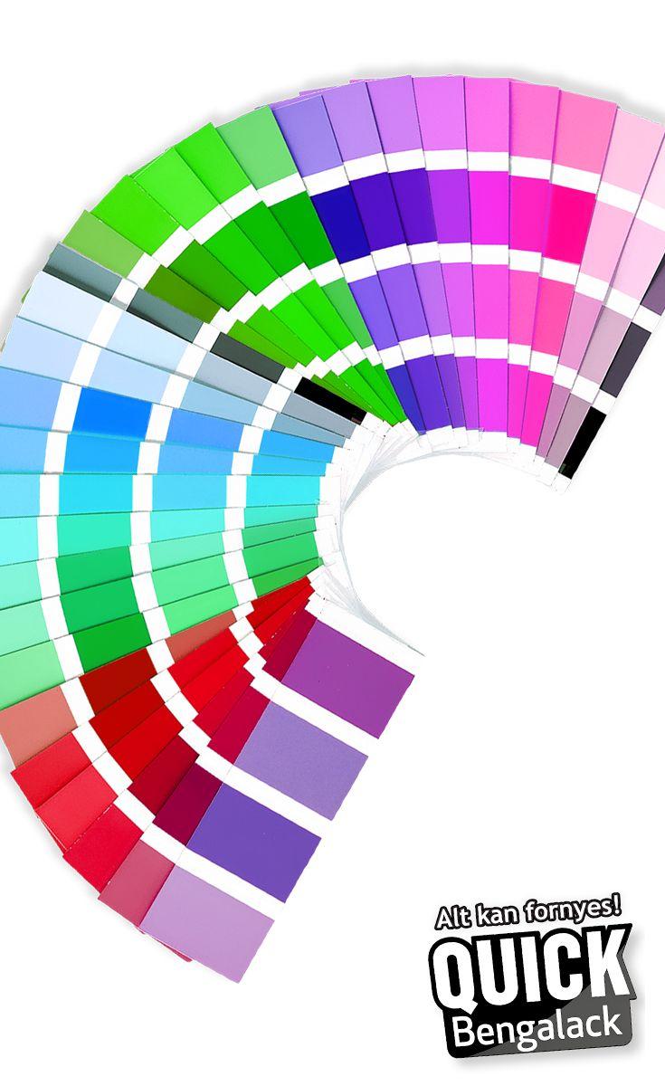 Quick Bengalack kommer i mange forskjellige farger - ta en titt på fargeoversikten ved å klikke på bildet. :) Vi elsker farger - gjør du? #bengalack #quickbengalack