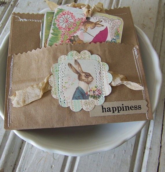 Would make a cute pocket for a place setting of disposible plate, cutlery, napkin