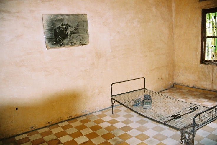 Torture cell at Tuol Sleng (S21) prison in Phnom Penh