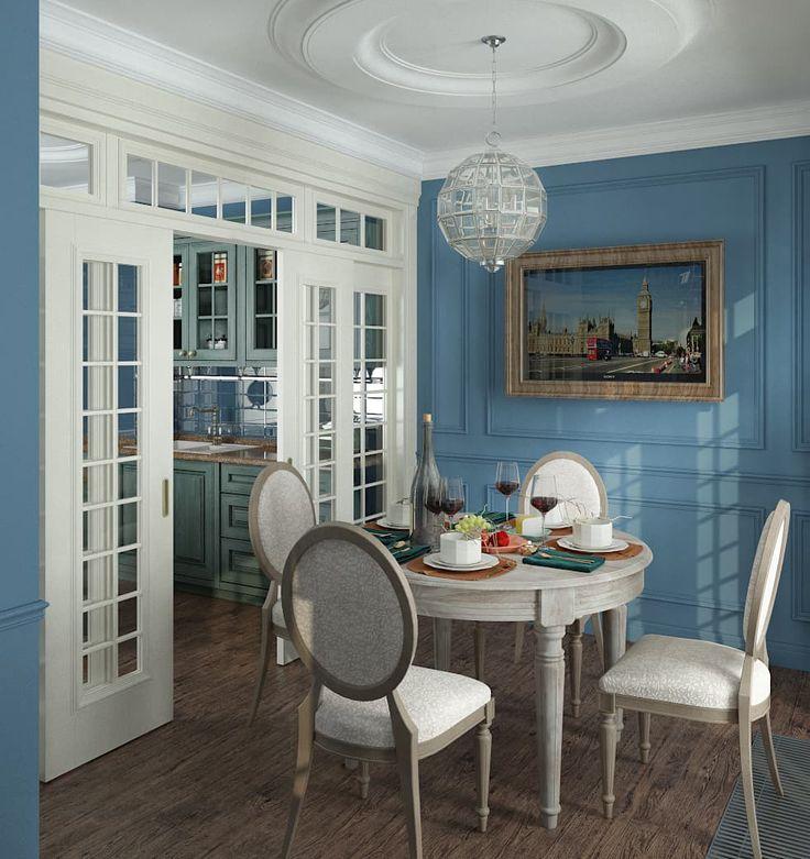 Столовая в английском стиле: Столовые комнаты в . Автор – Юров Денис