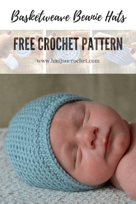 Basketweave Beanie Hats Free Crochet Pattern Baby Afag