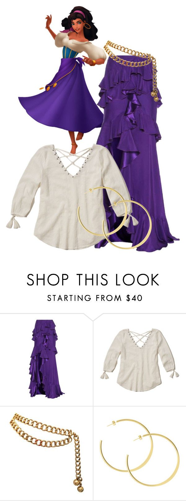 """""""Gypsy Look"""" by ahapplet ❤ liked on Polyvore featuring Roberto Cavalli, Hollister Co., Chanel, disney, long and ahapplet"""