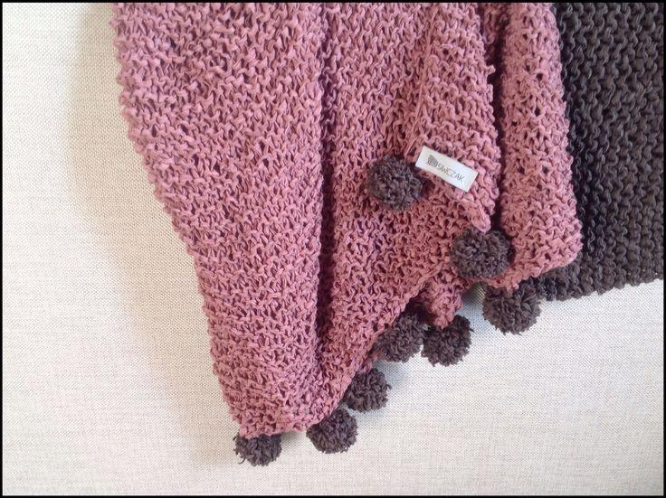 almost ready..♥️ #babygirl #blanket #babyblanket #POMPOM #kocykdziecięcy #otulacz #HANDMADE by #SIWCZAKhome dusty pink&brown