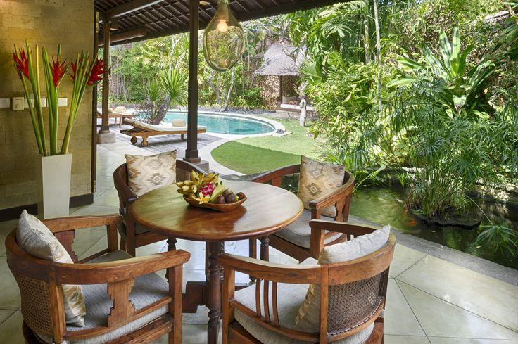 Villa 4 dining area at Villa Kubu, Seminyak, Bali