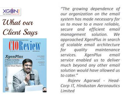 +XgenPlus  in +CIOReview - India Edition  #magazine   . Know what our client says