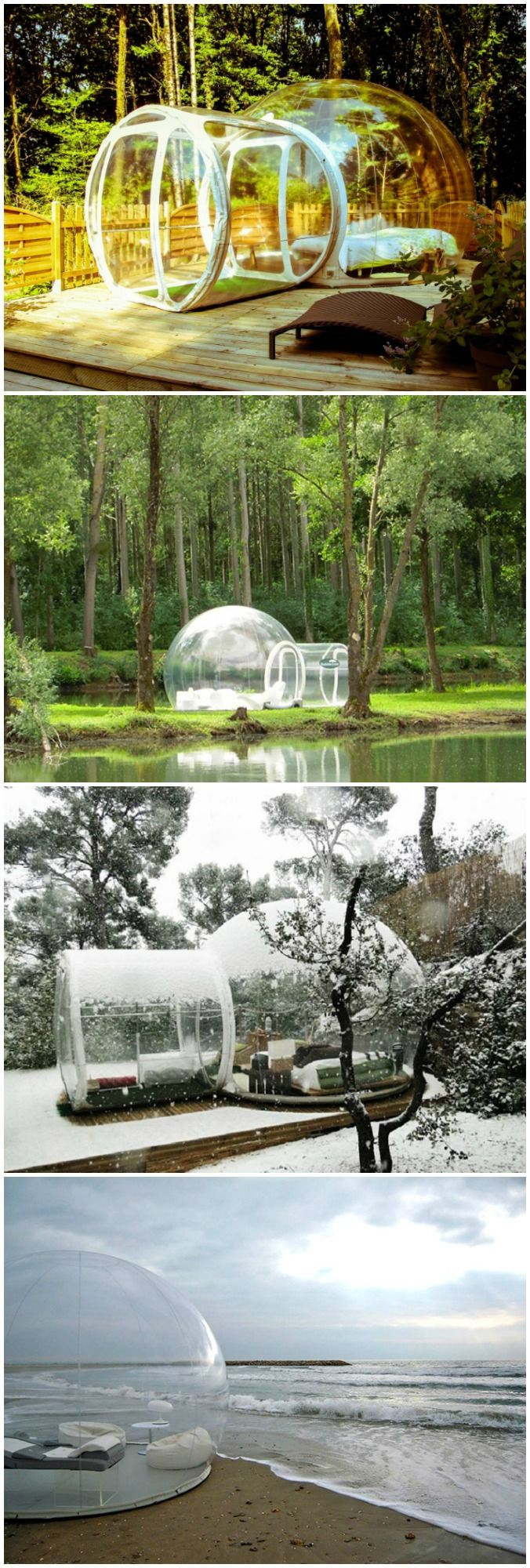 With the Inflatable Clear Bubble Tent, you can have the Milky Way as your ceiling and the extraordinary light variation of the sunset and sunrise as your bedroom lights.