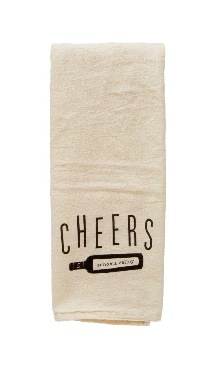 Cheers To Sonoma Flour Sack Tea Towels