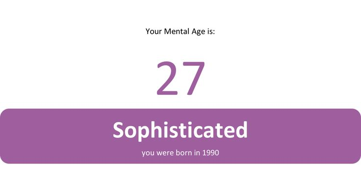I just took the Mental Age test. I have a mental age of 27! Check yours now!