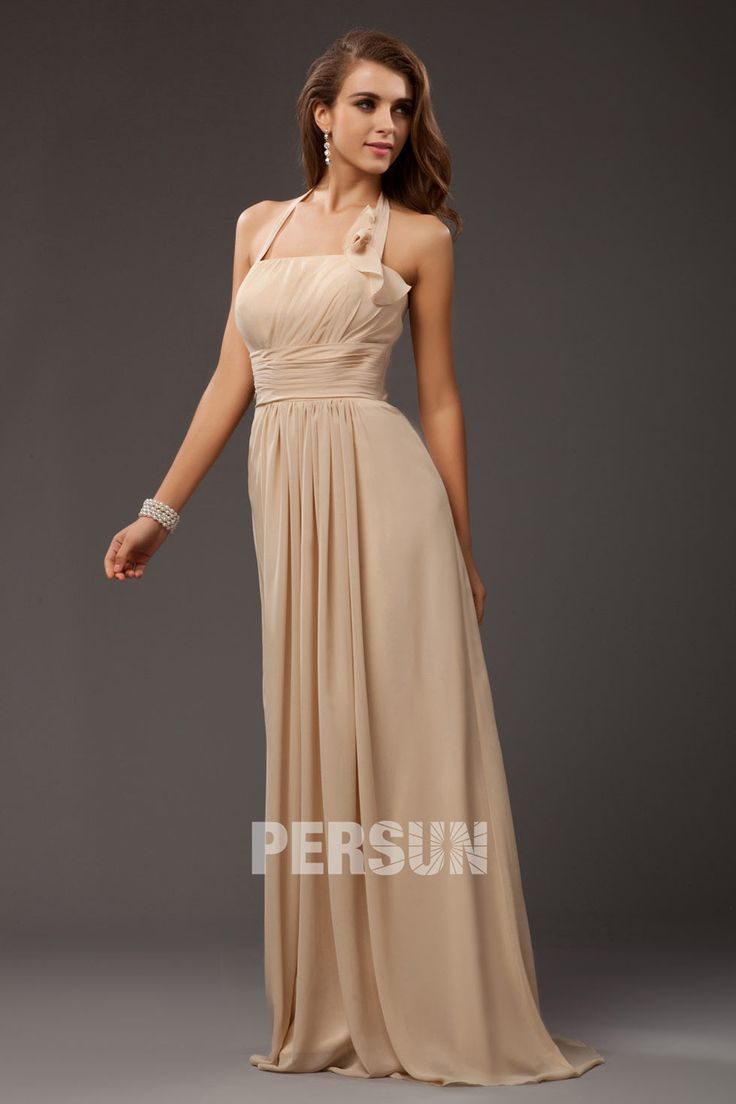 simple robe longue en mousseline pour invité mariage