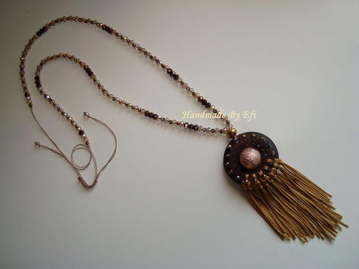 #Necklace #Boho #crystals