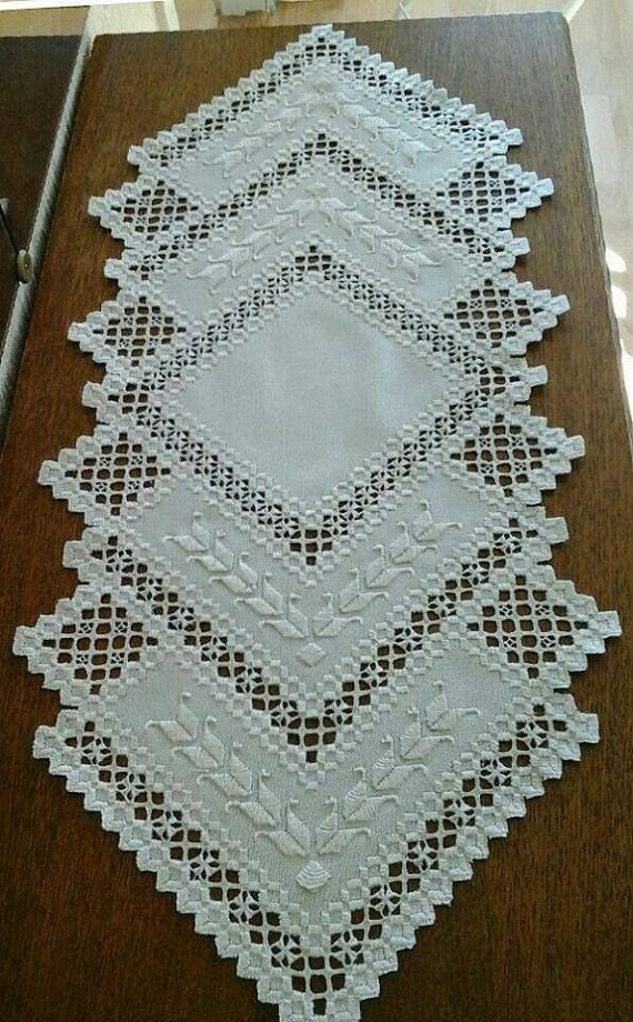 Hardanger Doily .handcraft table runners by handangerUA on Etsy